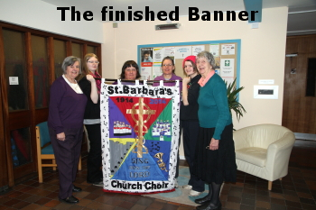 The finished banner